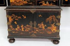 Queen Anne Collectors Cabinet Japanned - 1920564