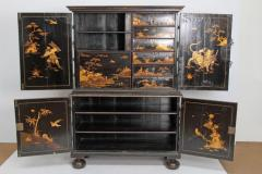 Queen Anne Collectors Cabinet Japanned - 1920565