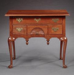 Queen Anne Lowboy with a Fan Carved Drawer - 663492