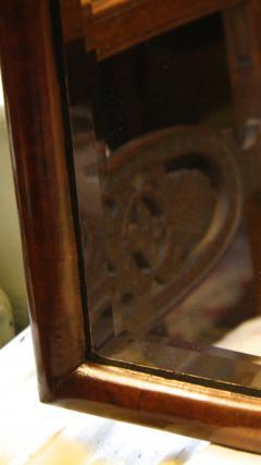 Queen Anne Revival Burl Walnut Pier Mirror - 1867745