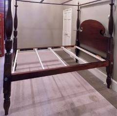 Queen Size Federal Mahogany Canopy Bed - 750288