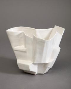 R A Pesce Small Cool White Vessel XX - 1312670