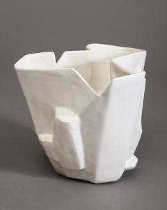 R A Pesce Small Cool White Vessel XX - 1312671
