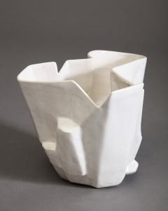 R A Pesce Small Cool White Vessel XX - 1312672