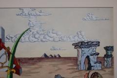R E Schwelke Surrealist Landscape Watercolor Signed R E Schwelke and Dated 1947 - 1211069