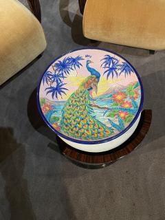 R Rizzi Longwy Ceramic Cloisonne Charger Artist Signed French Art Deco - 1748903