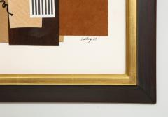 R Scott Lalley R Scott Lalley Unfinished Novel 2014 Paper Collage on Paper with String - 1162145