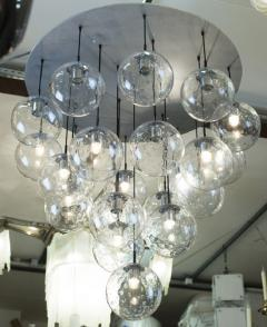 RAAK 1970s huge glass balls chandelier by RAAK Amsterdam - 903806