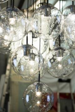 RAAK 1970s huge glass balls chandelier by RAAK Amsterdam - 903807