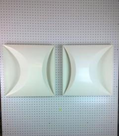 RAAK Pair of Modernist Late 20th Century RAAK Amsterdam White Sconces - 884474