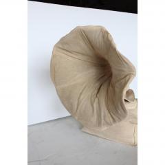 RARE 20TH CENTURY 3D CANVAS SCULPTURE OF GRAMOPHONE - 1046600