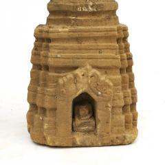 RARE 400 600 YEAR OLD BURMESE SANDSTONE STUPA PAGODA SCULPTURE - 2109506