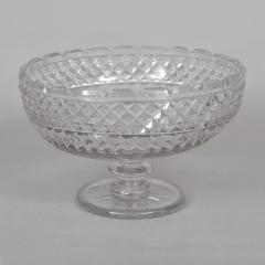 RARE EARLY AMERICAN BLOWN AND CUT COMPOTE - 724197