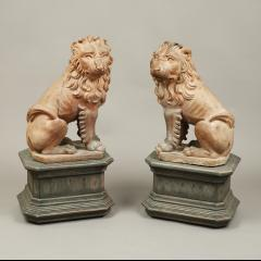 RARE PAIR OF LION GARDEN STATUES - 1927979