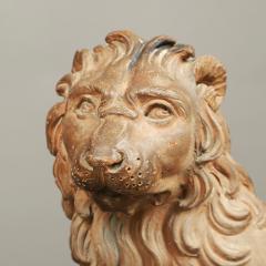 RARE PAIR OF LION GARDEN STATUES - 1927984