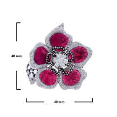 RUBY PETALS AND DIAMOND FLORAL RING - 1933893