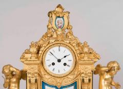 Raingo Fr res 19th Century French Gilt Bronze and Porcelain Clock in the Louis XVI Taste - 618369