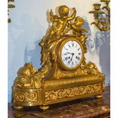 Raingo Fr res Fine Quality Gilt Bronze Figural Mantle Clock by Raingo Fr res - 1435147