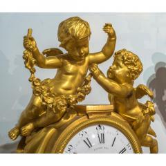 Raingo Fr res Fine Quality Gilt Bronze Figural Mantle Clock by Raingo Fr res - 1435150
