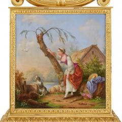 Raingo Fr res Ormolu and porcelain antique mantel clock by Raingo Fr res - 1516277