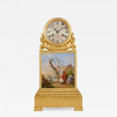 Raingo Fr res Ormolu and porcelain antique mantel clock by Raingo Fr res - 1517899