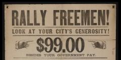 Rally Freemen Civil War Recruitment Broadside - 851556