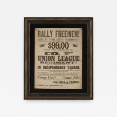 Rally Freemen Civil War Recruitment Broadside - 851706