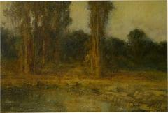 Ralph Davison Miller Trees by a Pool Oil Landscape Painting by Ralph Davison Miller CA 1858 1945  - 1066573