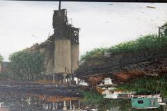 Randy Dudley Oil on Canvas by Randy Dudley titled 4th St Basin Gowanus Canal  - 1986002