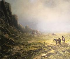 Ransom Gillet Holdredge Native Americans Riding Toward Home - 1584150