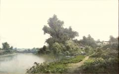 Ransom Gillet Holdredge Village Fishing and View Along the Russian River - 1627957