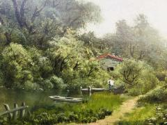 Ransom Gillet Holdredge Village Fishing and View Along the Russian River - 1627960
