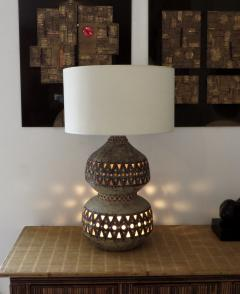 Raphael Giarrusso Raphael Giarrusso French Ceramic Table Lamp Accolay 1967 - 925853