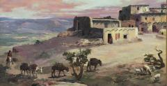 Raphael Lillywhite A Lone Pueblo Indian Riding Home to the the Village - 1595595