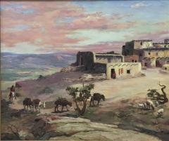 Raphael Lillywhite A Lone Pueblo Indian Riding Home to the the Village - 1595596