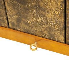 Raphael Raffel Raphael Important Lacquered Credenza With Textured Bronze Doors 1960s - 2137214
