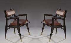 Raphael Raffel Raphael Raffel Pair of Stamped Chairs 1955 1960 - 782490