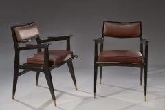 Raphael Raffel Raphael Raffel Pair of Stamped Chairs 1955 1960 - 782491