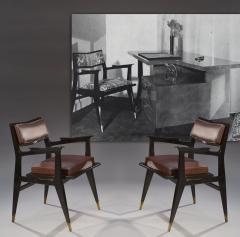 Raphael Raffel Raphael Raffel Pair of Stamped Chairs 1955 1960 - 782497