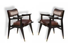 Raphael Raffel Raphael Raffel Pair of Stamped Chairs 1955 1960 - 782502