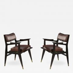 Raphael Raffel Raphael Raffel Pair of Stamped Chairs 1955 1960 - 908380