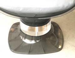 Raphael Raffel Raphael Raffel Pod Bronze Acrylic Pair of Chairs with Light Gray Leather Seats - 1421336