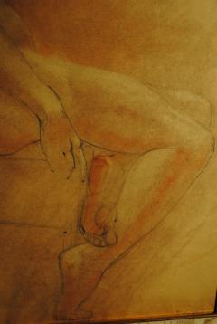 Raphael Soyer Drawing and Gouache of Large Nude signed - 929188
