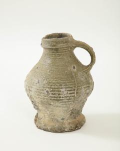 Rare 17th C German Low Countries Grey Ceramic Pitcher - 1289544