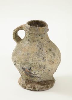 Rare 17th C German Low Countries Grey Ceramic Pitcher - 1289547