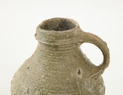 Rare 17th C German Low Countries Grey Ceramic Pitcher - 1289549