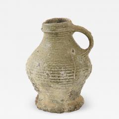 Rare 17th C German Low Countries Grey Ceramic Pitcher - 1291607