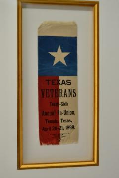 Rare 1889 Texas Revolutionary War Veteran Reunion Ribbon - 1714100
