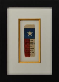 Rare 1889 Texas Revolutionary War Veteran Reunion Ribbon - 1716383