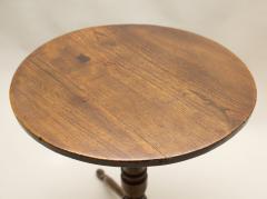 Rare 18th Century English Elm Turned Leg Table - 80206